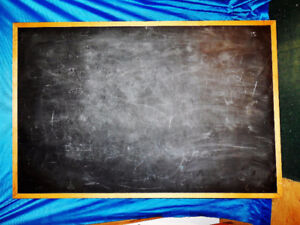"Blackboard / vintage style - large size at 72"" x 48""/maple frame"