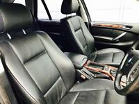 "2005 55 reg BMW X5 3.0d Auto Black + Black Leather + 19"" Sport Alloys"