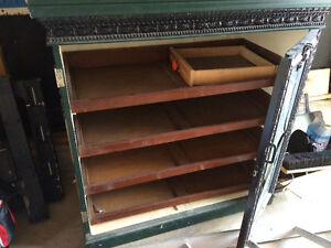 old cigar display case