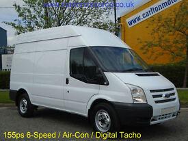 2013/ 62 Ford Transit 155ps T350 MWB High roof panel van 2.2Tdci RWD