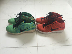 Nike Flyknit Chukka (multicolour & red colourway) - size 10
