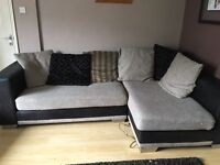 Large Corner Sofa and large footstool avail from Thursday