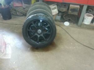 215 -50  R17  wheels and tires