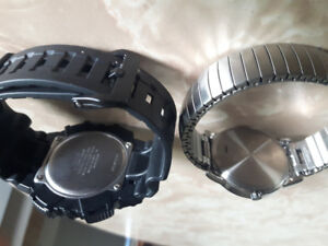 casio solar tough illuminater/timex watch