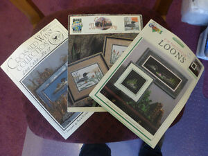 Loon Cross Stitch Patterns - Lot of 3