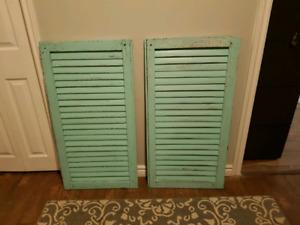 2 antique shutters