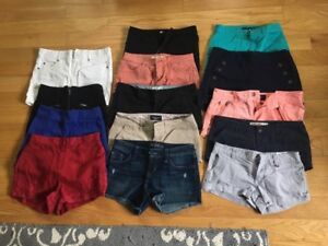 Junior's/Womens Shorts for Sale - Hollister, AE, A&F, Guess