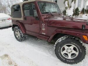 Certified  2001   Jeep Tj  Wangler Sport For Sale