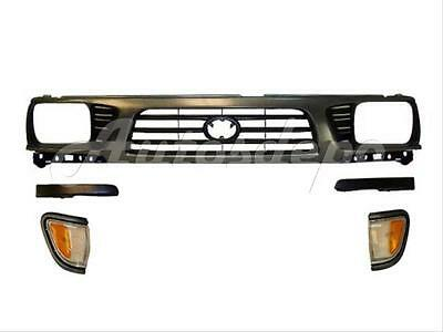 Toyota Tacoma 4wd Park - FOR TOYOTA 95-97 TACOMA 4WD GRILLE GRAY FILLER PARK SIGNAL LIGHT 5PCS NEW