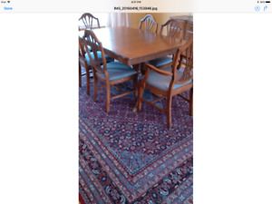Solid Mahogany Dining Set for Sale