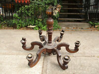 Vintage / Antique carved wood chandelier
