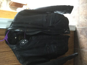 Leather motorcycle jacket. REDUCED FOR QUICK SALE.