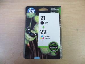 HP Ink (#21 & #22) in Original Box (Not Opened)