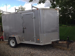 12' Enclosed Trailer:  Custom built cabinet system