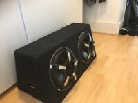 2 x hertz sx300d subwoofers with sealed box