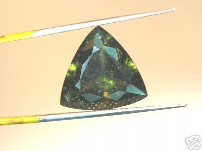 5.11CT STUNNING RARE UNTREATED NATURAL CZECFACETED GREEN MOLDAVITE