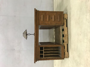 Antique 100 year old Double Sided Desk