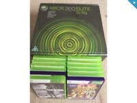 Xbox 360 elite (As new) with 14 games