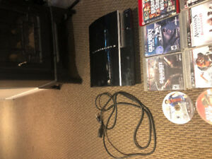 PlayStation 3 console and 10 games
