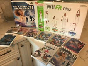 Wii console with games and extras