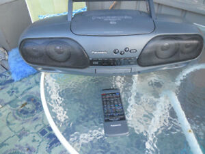 Panasonic Remote Control/Dual Deck Portable Stereo System