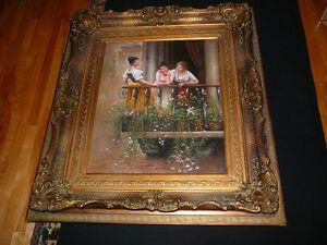 """Magnifique tableau à l'huile Trois femmes, 30""""x24""""/41""""x47"""" SIGNÉ West Island Greater Montréal image 9"""