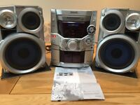 Panasonic CD/MP3/radio/tape 2x150W speakers