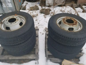 Ford f-350 dually rims and tires