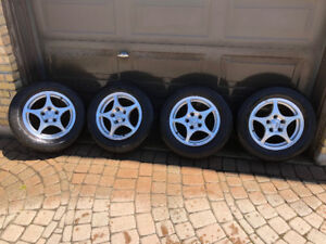 Honda Accord 2003 Rims with Rubber ($250 for all 4)