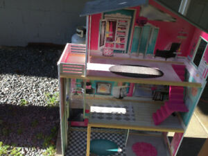 Barbie Doll House + Car + Horse + Bike