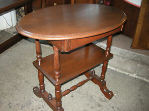 antique walnut hall or side table with drawer Oakville / Halton Region Toronto (GTA) image 2