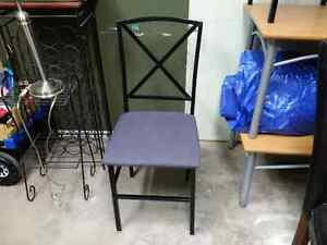 Frosted glass table and 4 black matching chairs Peterborough Peterborough Area image 1