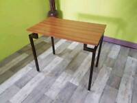 Child's Small Table / Desk With Metal Legs - Can Deliver For £19