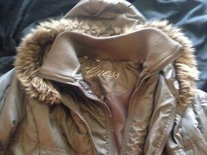 Women's xl guess brand coat, fur trim on hood. $20 need gone!