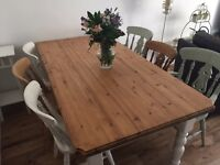 Farmhouse Dining Table and chairs/ shabby chic