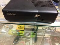 X BOX 360 WITH GAMES N CONTROLLER