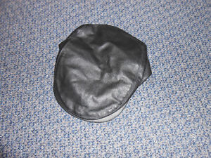 Mans Flat Hat Leather With Snap Never worn
