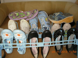 9 pairs kids shoes,size 7 shoes,New and used, mint