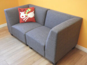 6 PC GREY RECEPTION AREA MODULAR SECTIONAL COUCHES - AS NEW Stratford Kitchener Area image 6