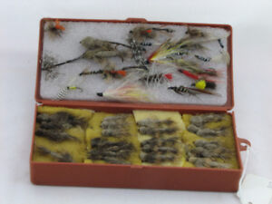 Collection of >40 Hand-Tied Fishing Flies