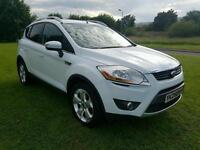 (WHITE) 2009 Ford Kuga 2.0 TDCI 4x4 Zetec 140BHP, APPEARANCE PACK! FRONT & REAR PARKING SENSORS!
