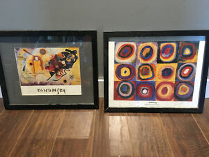 2 Kandinsky framed prints