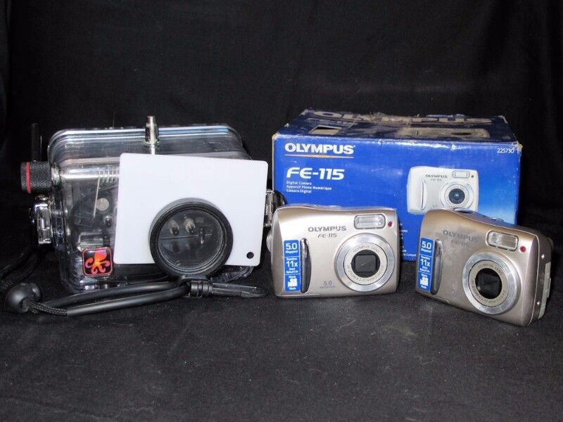 Underwater Camera :  2 x Olympus FE FE-115  Cameras and Ikelite Housing #6132.11 housing