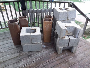 Chimney blocks and clay tile liners