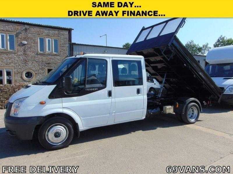 2008 FORD TRANSIT 6 SEAT CREW CAB TIPPER 1 COUNCIL OWNER TOW BAR COMPRESSOR