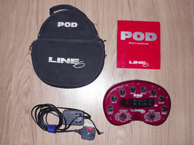 Line 6 Guitar Pod v2 with pedalboard