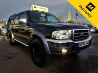 2005 FORD RANGER 2.5 THUNDER D/C 107 BHP! P/X WELCOME! 2 F/KEEPERS! LEATHER! 4X4