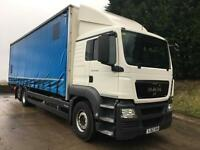2012 62 MAN TGS 26.360 Sleeper cab 30ft curtainsider, undeslung tail-lift 200kms