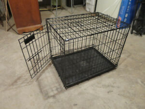 cage animaux chat chien  excellente condition 2 portes pliable