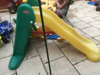 Little tikes slides one large one toddler size